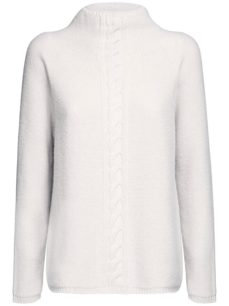 MAX MARA 'S Cashmere Knit Mock Neck Sweater in ecru