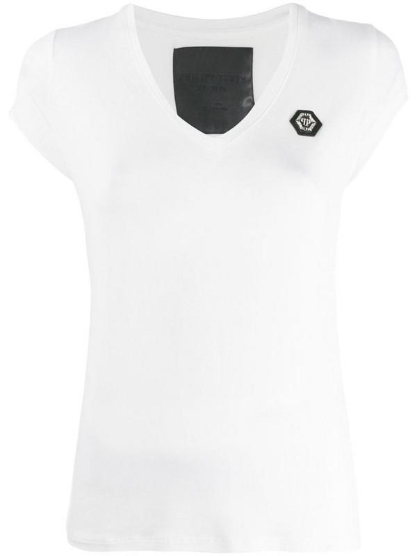 Philipp Plein v-neck T-shirt in white