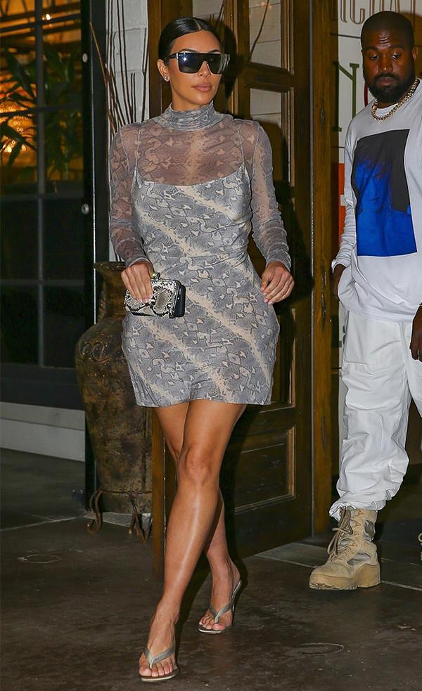 dress snake snake print python print kim kardashian kardashians celebrity mini dress