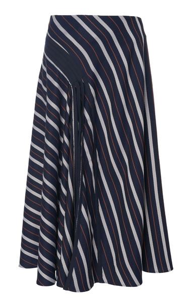 palmer/harding palmer//harding Radiant Striped Shell Midi Skirt Size: 6