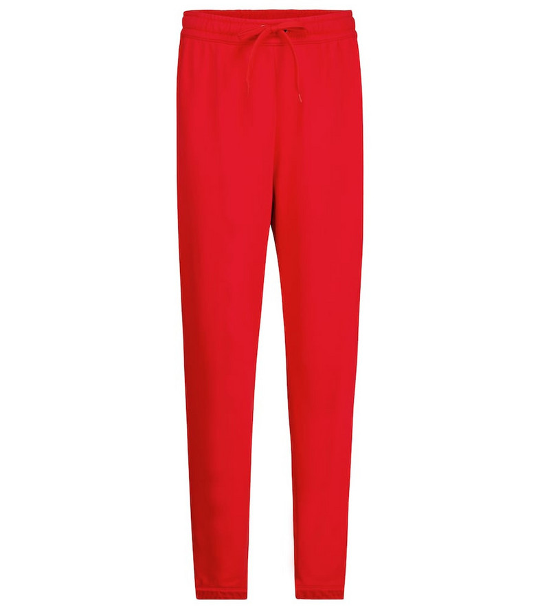 Burberry Vintage Check cotton jersey sweatpants in red