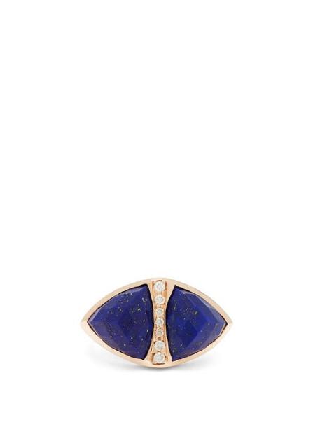 Jacquie Aiche - Diamond & Lapis Lazuli 18kt Gold Ring - Womens - Blue