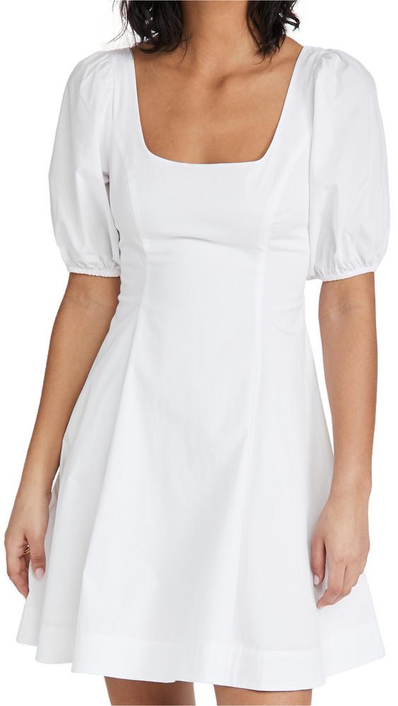 STAUD Laelia Dress in white
