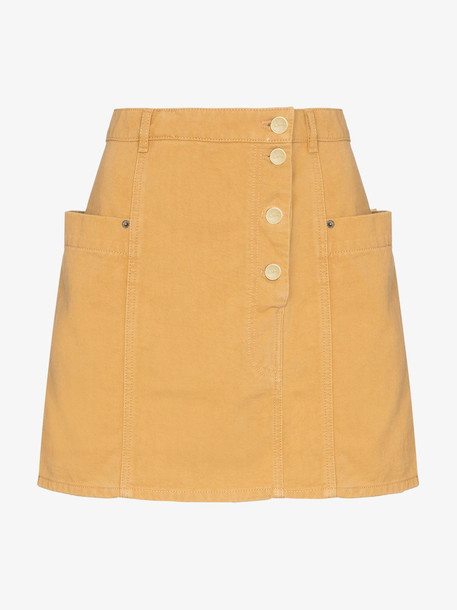 Jacquemus fold over waist denim mini skirt