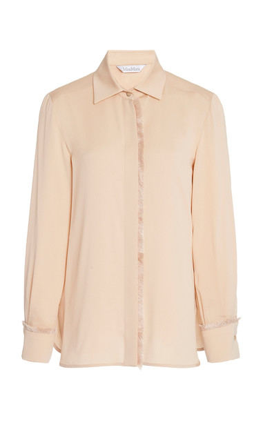 Max Mara Mogador Silk Shirt in neutral