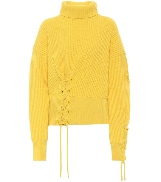 Moncler Genius 1 MONCLER JW ANDERSON wool and cashmere sweater in yellow