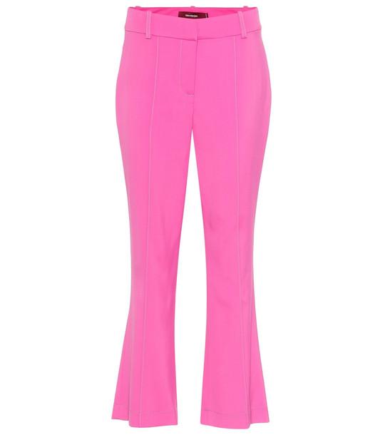 Sies Marjan Danit high-rise cropped flared pants in pink