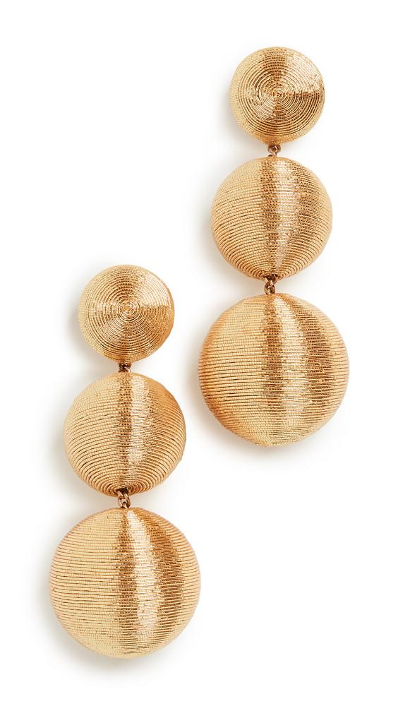 Rebecca De Ravenel Classic 3 Drop Earrings in gold