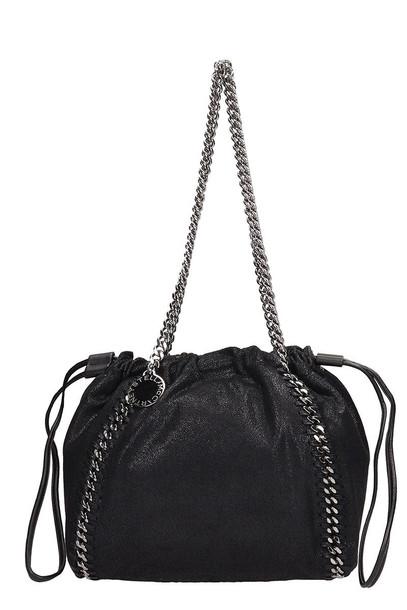 Stella McCartney Black Faux Leather Falabella Bag
