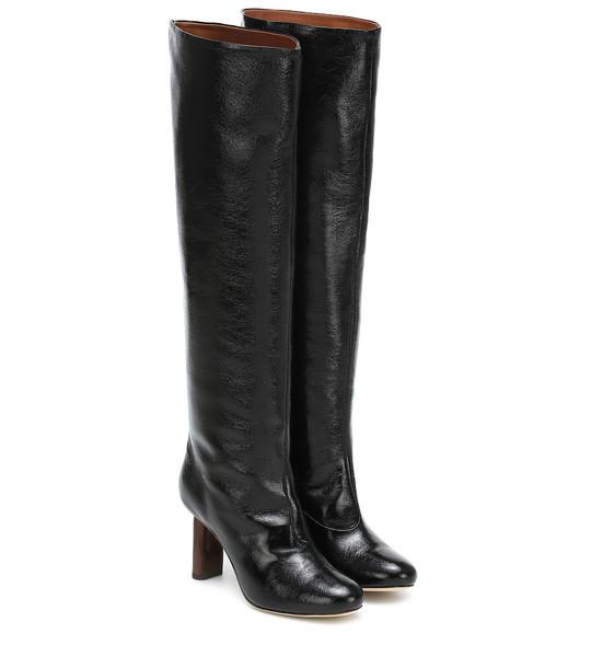 Rejina Pyo Allegra leather knee-high boots in black