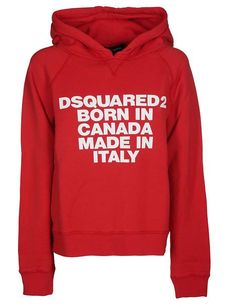 Dsquared2 Born In Canada Hoodie in red