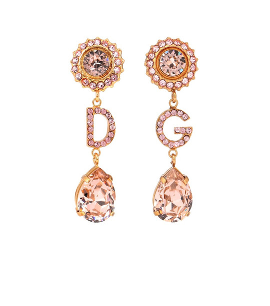 Dolce & Gabbana DG pendant clip-on earrings in gold