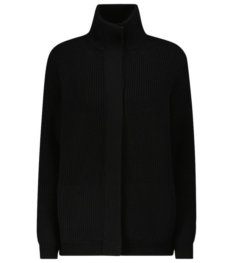 Tom Ford Ribbed-knit wool and cashmere cardigan in black