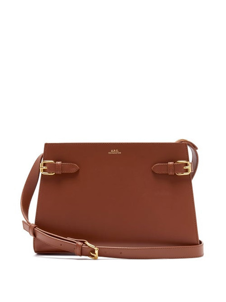 A.P.C. A.p.c. - Charlotte Smooth-leather Shoulder Bag - Womens - Tan