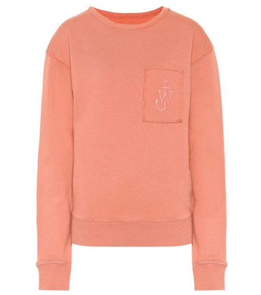 JW Anderson Embroidered cotton sweatshirt in pink