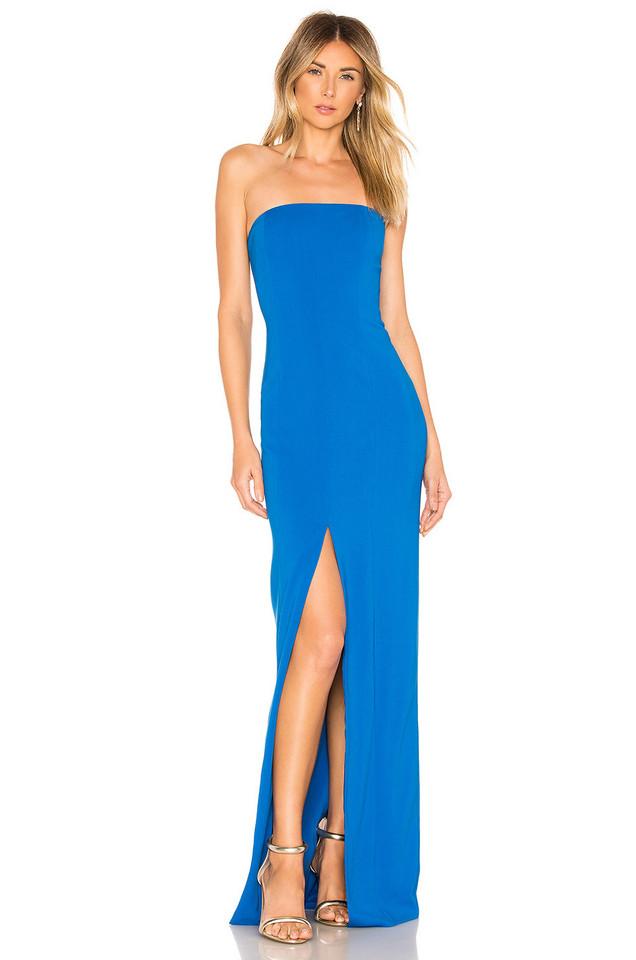 Jay Godfrey Martell gown in blue