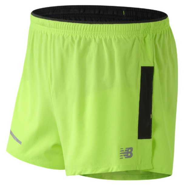 New Balance 61231 Men's Impact 3 Inch Split Short - Green/Blue (MS61231TOX)