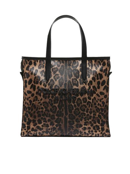 Dolce & Gabbana Leopard Print Shopper Tote
