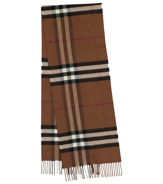Burberry Giant Check cashmere scarf in beige
