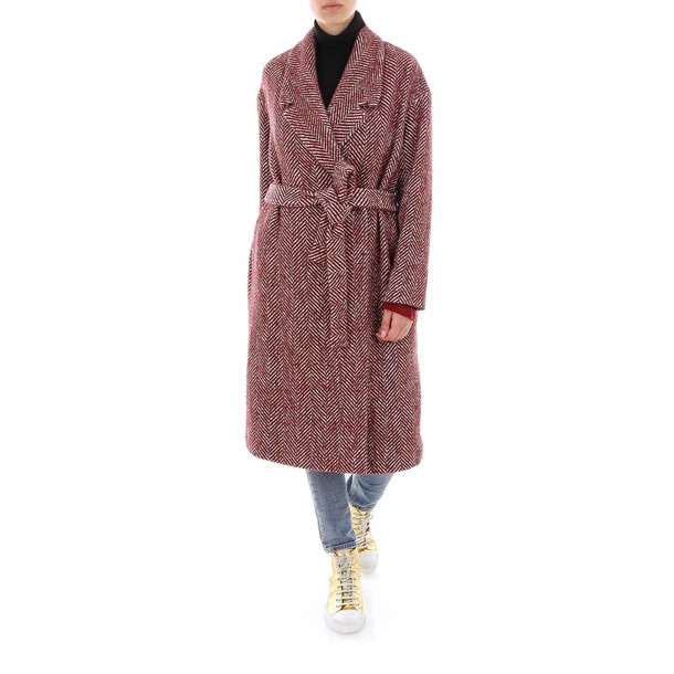 SEMICOUTURE Coat in red