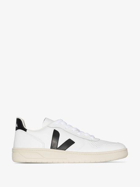 Veja White V-10 leather sneakers