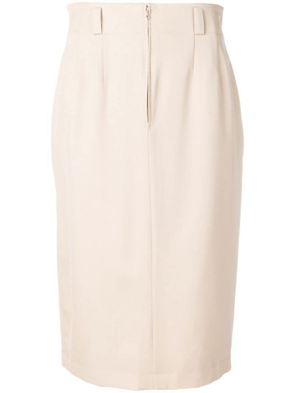 Jean Louis Scherrer Pre-Owned 1990's mid-length skirt in neutrals