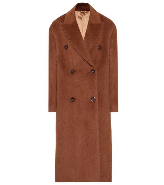 Acne Studios Alpaca and wool coat in brown