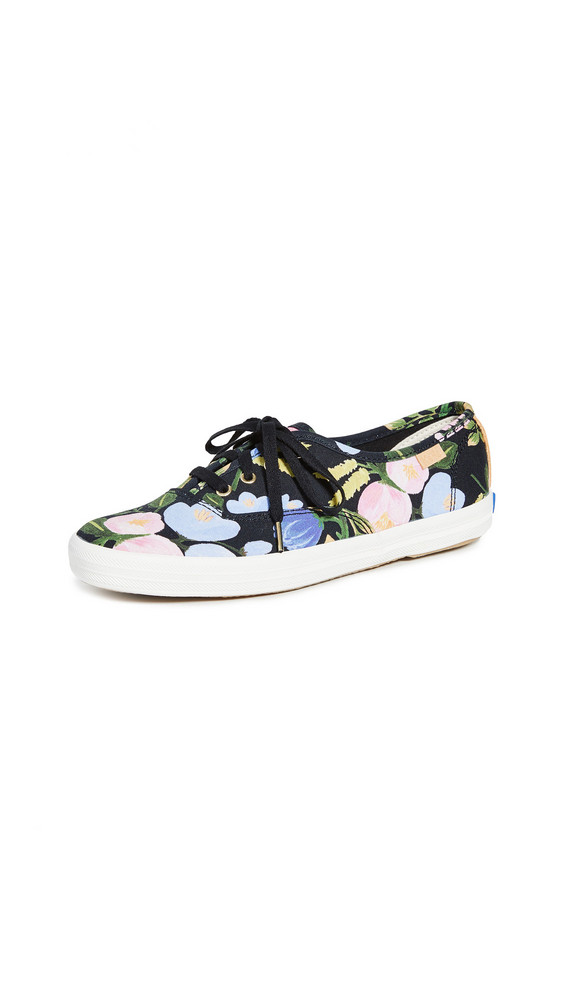 Keds x Rifle Paper Co. Champion Floral Sneakers in black / multi