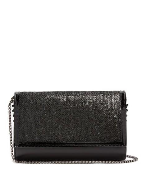 Christian Louboutin - Paloma Sequin Embellished Clutch Bag - Womens - Black