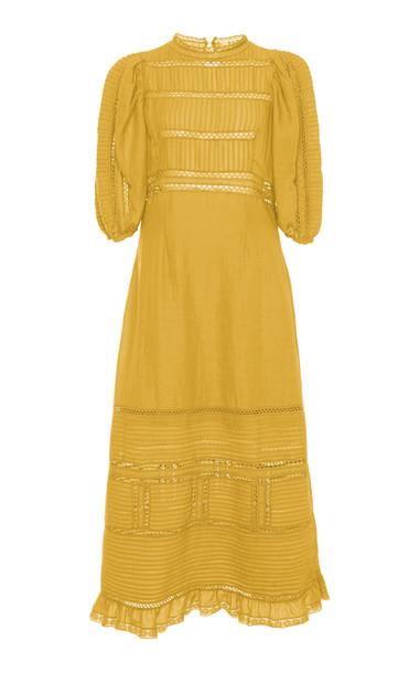 Sea Poppy Midi Dress in yellow