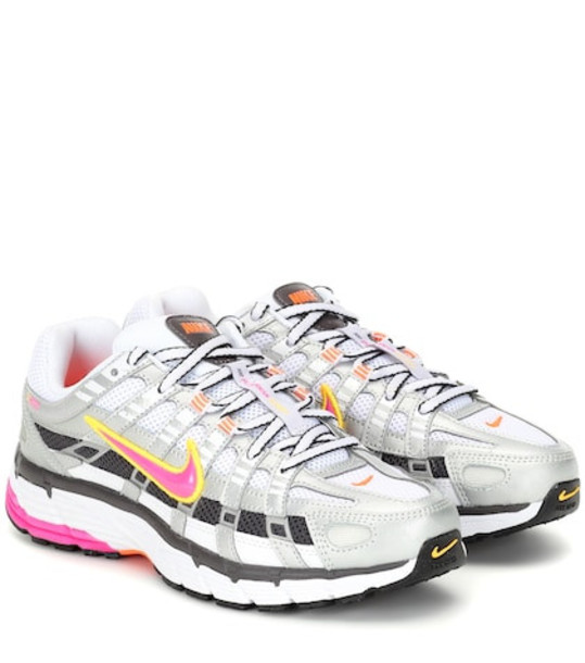 Nike P-6000 mesh sneakers in silver