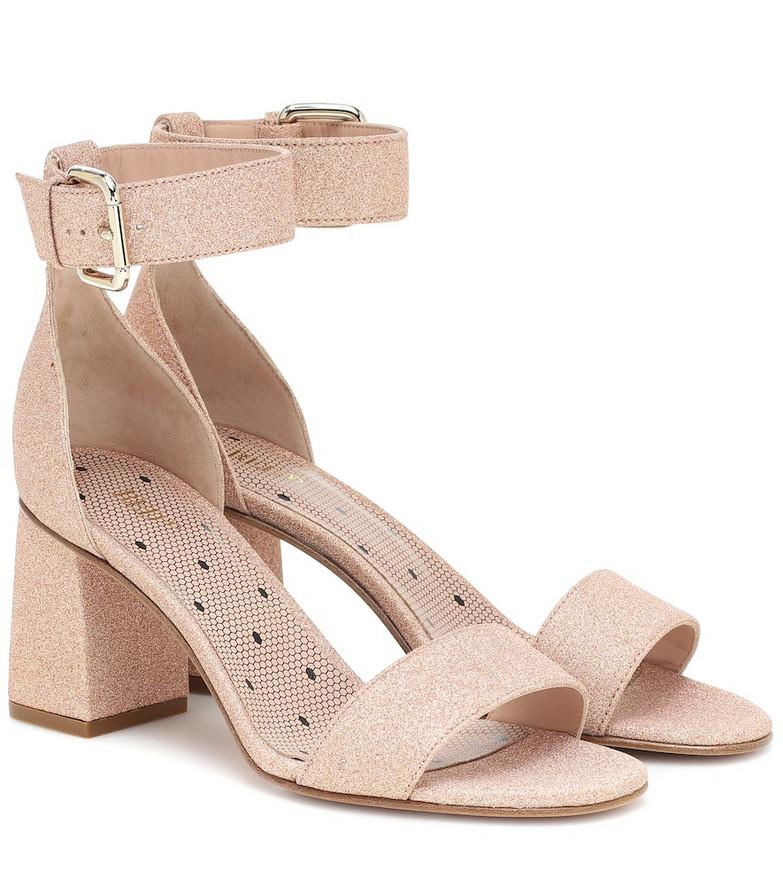 RED (V) RED (V) glitter sandals in pink