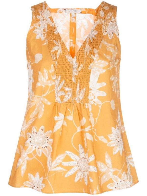 Dorothee Schumacher floral print vest in orange
