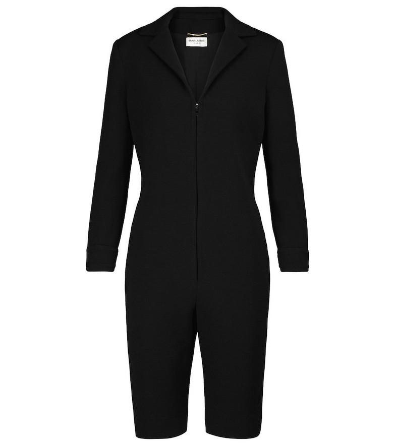 Saint Laurent Wool-blend jumpsuit in black