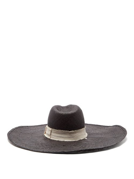 House Of Lafayette - Brandi Wide Brim Straw Hat - Womens - Black