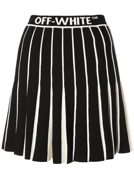 Off-White Knit Swans Miniskirt in black