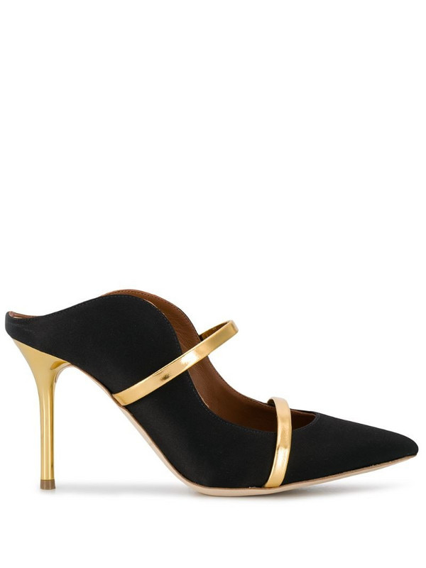 Malone Souliers Maureen 85mm leather mules in black