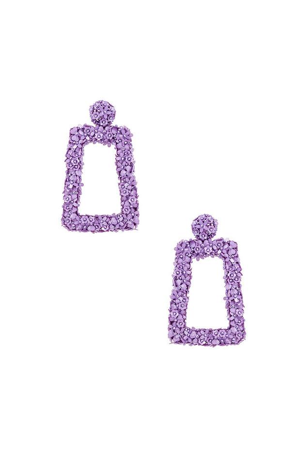 Sachin & Babi Fleur Dusk Earrings in lavender