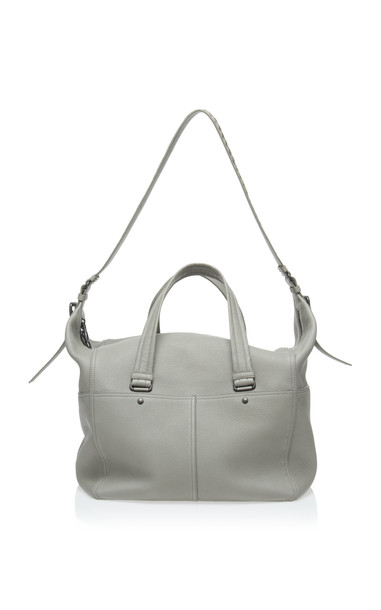 Bottega Veneta Intrecciato Leather Shoulder Bag in grey
