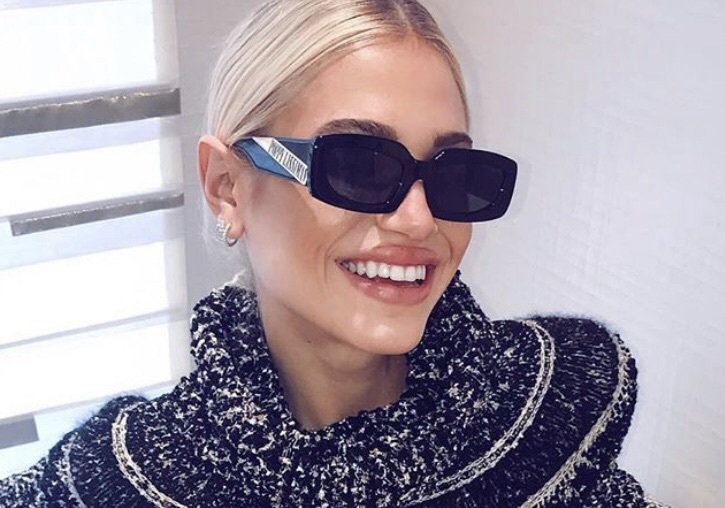 sunglasses rectangle model black fashion