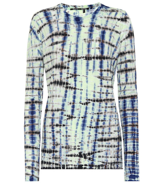 Proenza Schouler Tie-dye cotton jersey top in blue