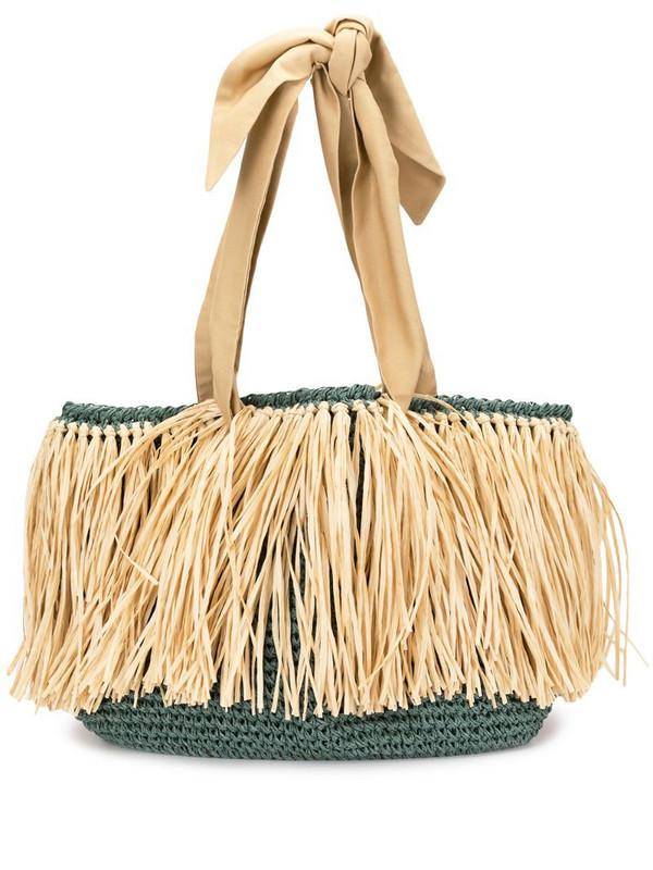 0711 Malibu straw bag in green