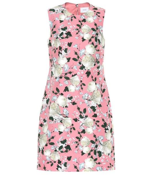 Erdem Rivanna floral cotton minidress in pink