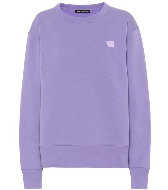 Acne Studios Fairview Face cotton sweatshirt in purple