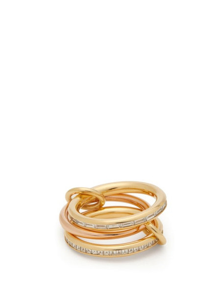 Spinelli Kilcollin - Mozi 18kt Gold, Rose Gold & Diamond Ring - Womens - Gold