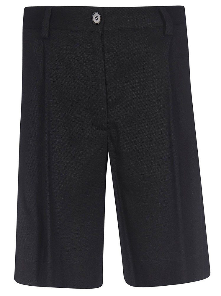Barena High Waist Shorts in black