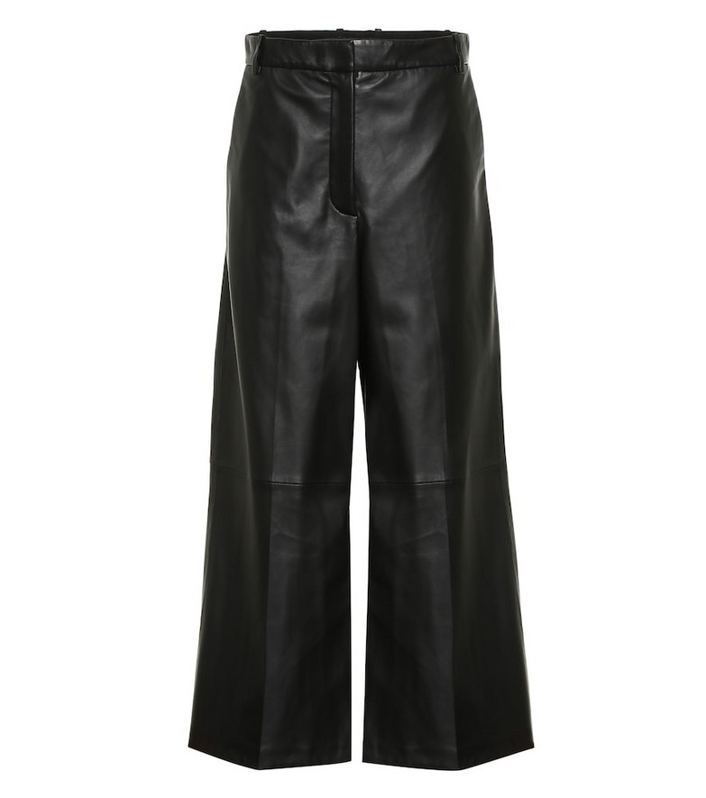 Joseph Tuba wide-leg leather pants in black
