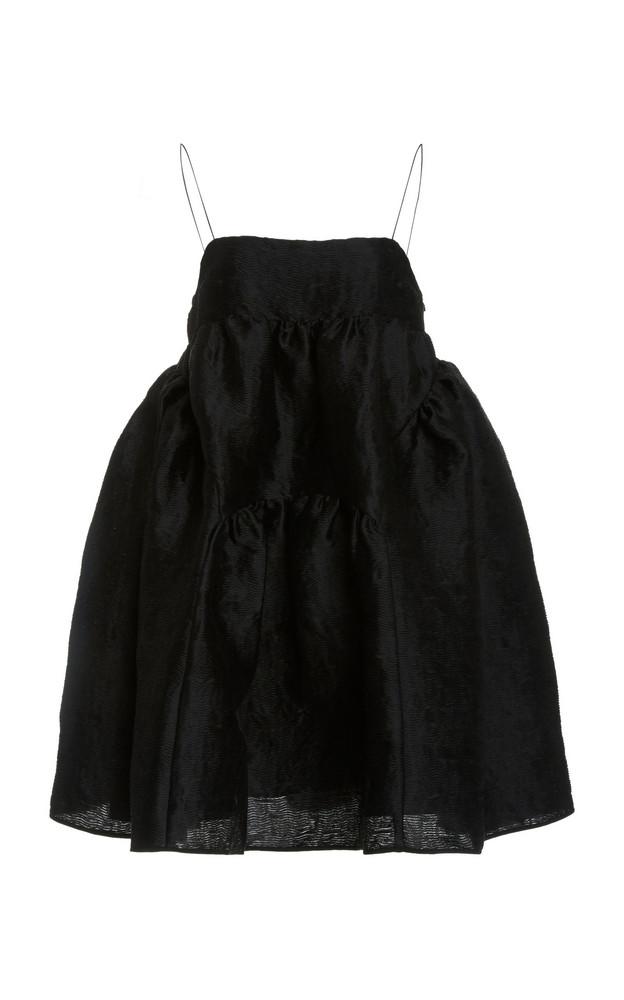 Cecilie Bahnsen Paneled Babydoll Dress in black