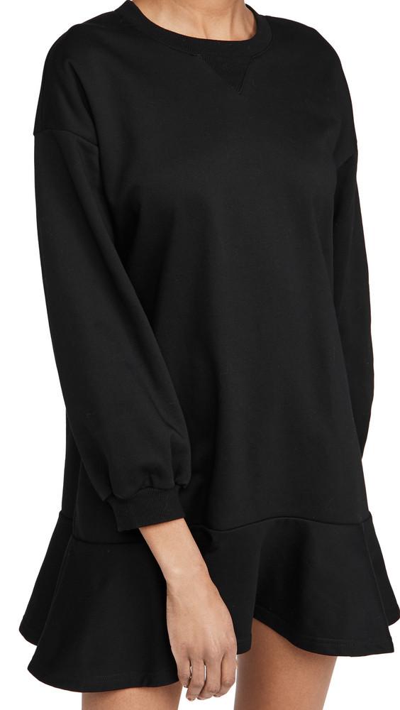 Never Fully Dressed Grey Sweat Mini Dress in black