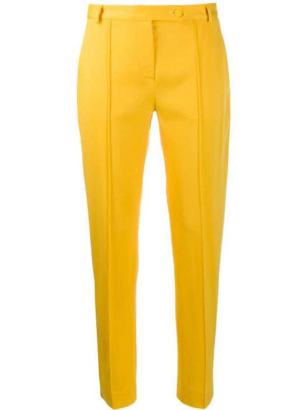 Styland slim fit trousers in yellow